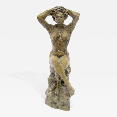 Hendrik Grise Ceramic Sculpture of a Bathing Female by Hendrick Grise