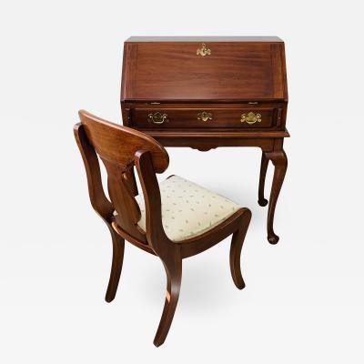 Henkel Harris Solid Cherry Lady Astor Queen Anne Desk and chair