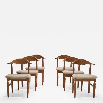 Henning Kjaernulf 6 Henning Kj rnulf Dining Chairs Denmark 1960s