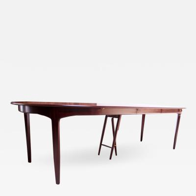 Henning Kjaernulf Large Rosewood and Brass Extension Dining Table by Henning Kj rnulf for Sor