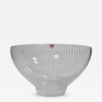 Henning Koppel Orrefors Lead Crystal Gallery Bowl
