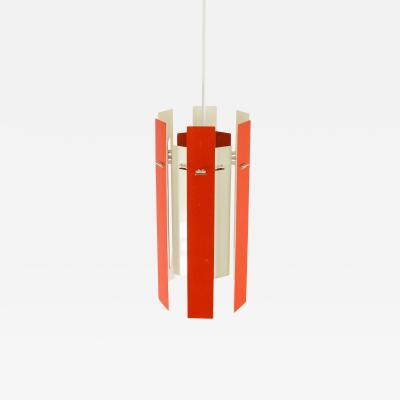 Henning Rehhof Cocktail pendant by Henning Rehhof for Fog M rup in red and white 1970s