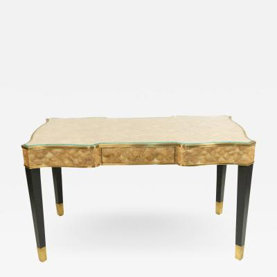 Henredon Veneer Shell Desk with Glass Top