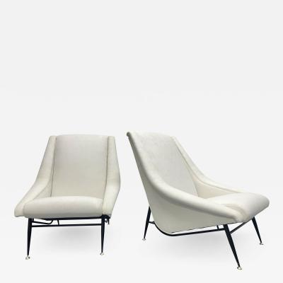 Henri Caillon Pair of 1960s French Lounge Chairs by Henri Caillon for Erton