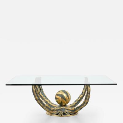 Henri Fernandez Henri Fernandez Bronze Coffee Table