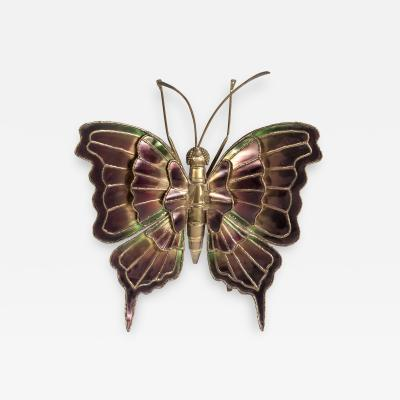 Henri Fernandez Rare Butterfly sculpture wall light in the style of Henri fernandez