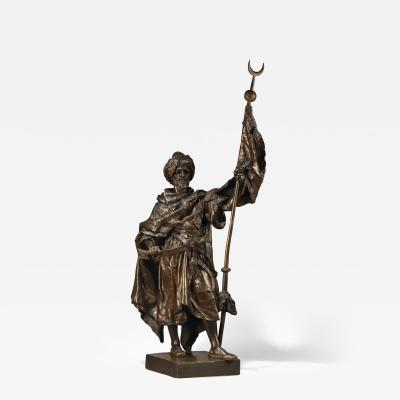 Henri Honor Pl A Multi Patinated Bronze Figure of an Arab Warrior