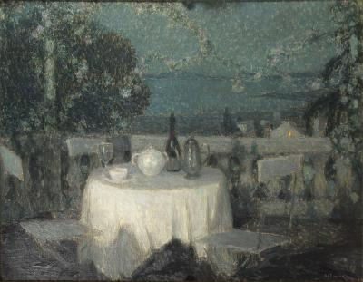 Henri Le Sidaner Table au Clair de Lune