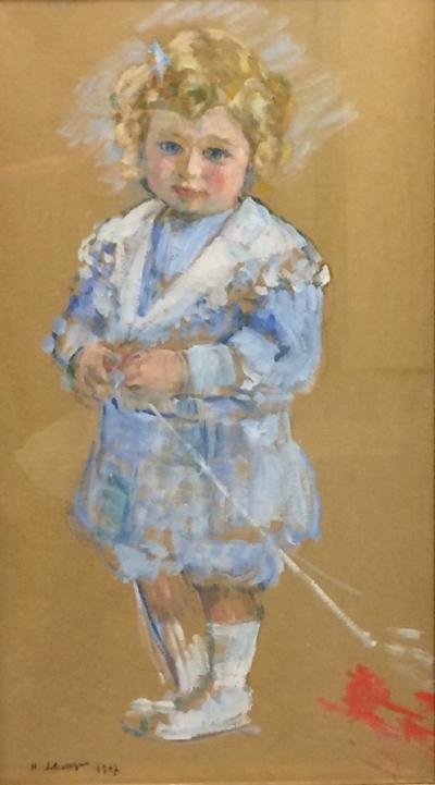 Henri Lebasque Portrait d enfant en pied