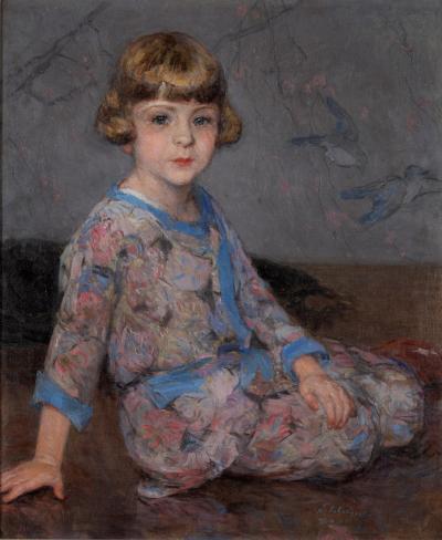 Henri Lebasque Portrait of a Young Girl