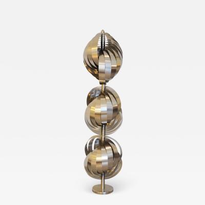 Henri Mathieu Henri Mathieu Floor Lamp Spirales Cin tiques in Metal and Aluminium