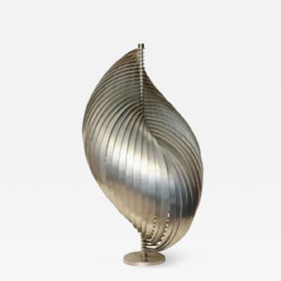 Henri Mathieu Henri Mathieu Table Lamp Mid Century Modern Sculptural Aluminum Bands