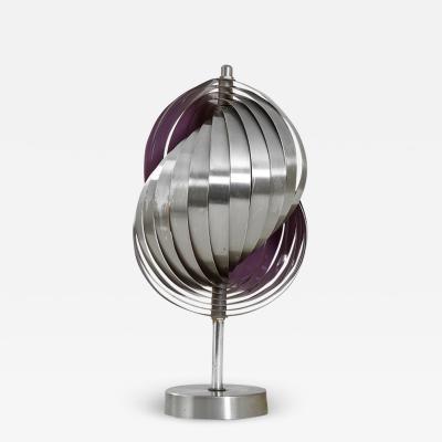 Henri Mathieu Henri Mathieu Table Lamp Mod Spirales Cin tiques in Aluminium 60s