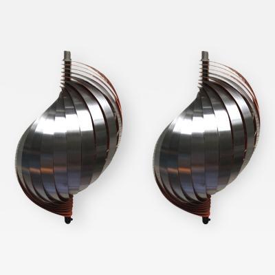 Henri Mathieu Henri Mathieu pair kinetic sconces