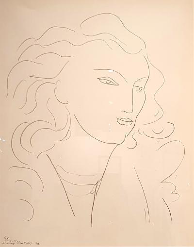 Henri Matisse Henri Matisse After Lithograph Woman