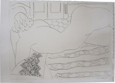 Henri Matisse Henri Matisse Lithograph Nude on a Little African Rug