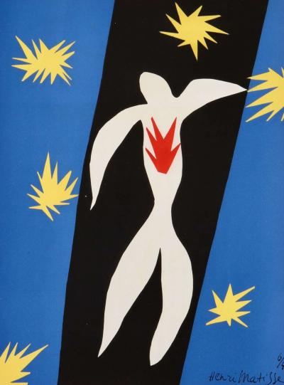 Henri Matisse Henri Matisse The Fall of Icarus Pochoir 1945