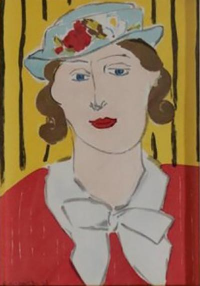 Henri Matisse Woman with Hat Lithograph by Henri Matisse