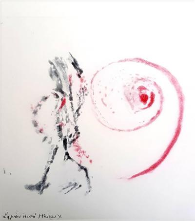 Henri Michaux After Henri Michaux Moments Original Aquatint 1996