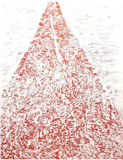 Henri Michaux Henri Michaux Original Zinchograph 1958