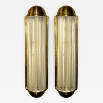 Henri Petitot Art Deco Large Theater Sconces from Belgium in the style of Petitot