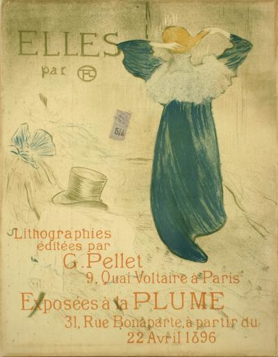 Henri de Toulouse Lautrec Elles A Turn of the Century Exhibition Poster by Toulouse Lautrec 1896