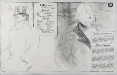 Henri de Toulouse Lautrec Original Henri de Toulouse Lautrec Theatre Program 1896