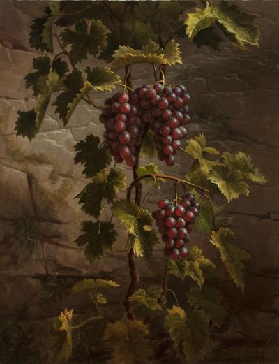 Henry Cheever Pratt Black Hamburg Grapes 1866