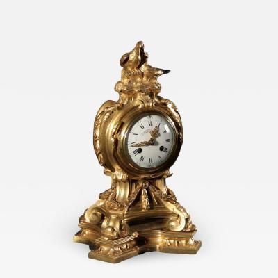 Henry Dasson Henry Dasson Clock Gilded Bronze France 19th Century