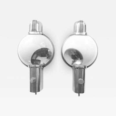 Henry Dreyfuss Pair of Henry Dreyfuss Train Sconces