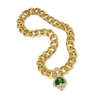 Henry Dunay Gold Necklace with Peridot and Diamonds by Henry Dunay