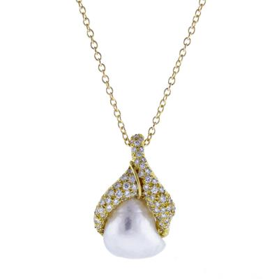 Henry Dunay Henry Dunay Baroque pearl and Diamond Pendant