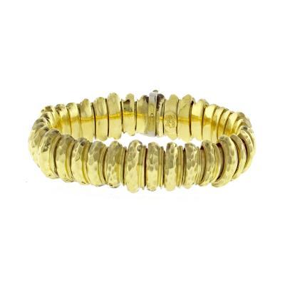 Henry Dunay Henry Dunay Faceted Gold Bracelet
