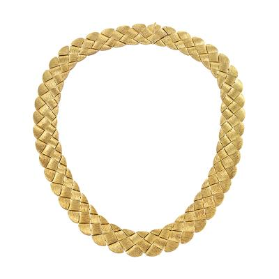 Henry Dunay Henry Dunay Late 20th Century Basketweave Necklace