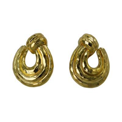 Henry Dunay Pair of 18 Karat Gold Earclips by Henry Dunay