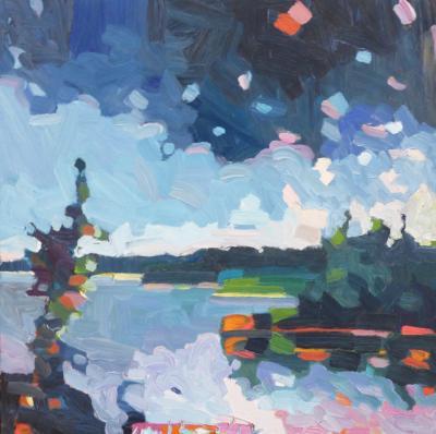 Henry Isaacs Dusk Parsons Creek Maine