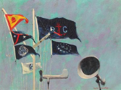 Henry Koehler Mission Bay Yacht Club Flag Staff