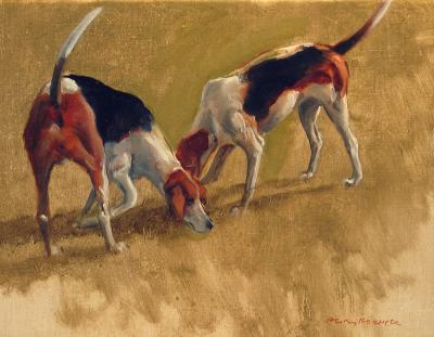 Henry Koehler Two Fox Hounds