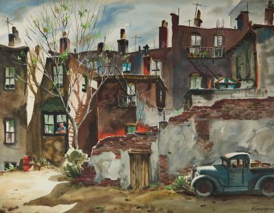 Henry Martin Gasser Backyard Springtime