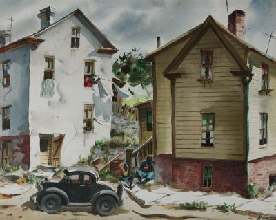 Henry Martin Gasser City Street with House