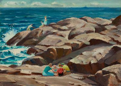 Henry Martin Gasser On the Seashore