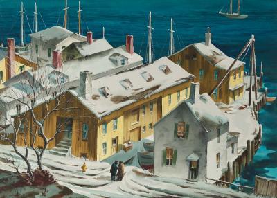 Henry Martin Gasser Winter Wharf