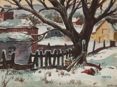 Henry Martin Gasser Winter in the Country