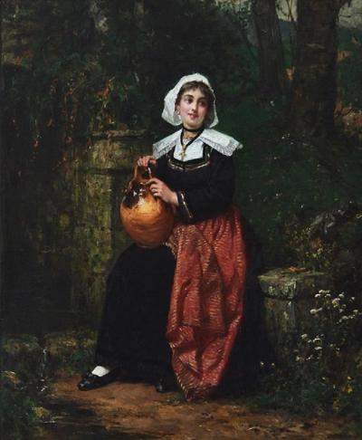 Henry Mosler Girl with a Water Jug