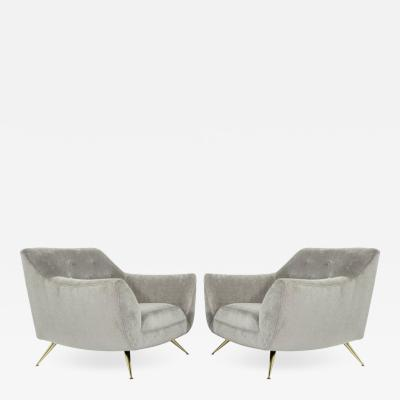 Henry P Glass Henry Glass Lounge Chairs in Velvet