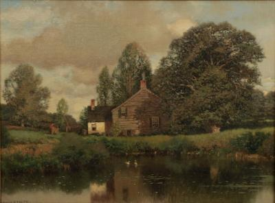 Henry Pember Smith Henry Pember Smith American 1854 1907 Cottage by Lake