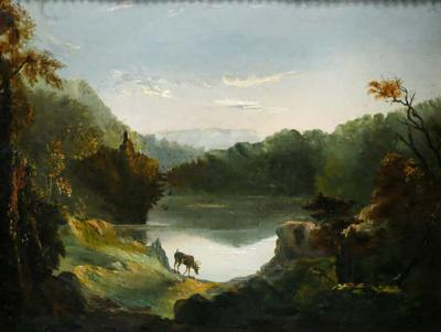Henry Peters Gray Early 19th Century American Landscape Painting by Henry Peters Gray PNA 1837
