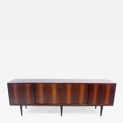 Henry Rosengren Hansen Exceptional Danish Modern Rosewood Credenza Designed by Rosengren Hansen