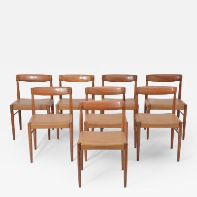 Henry Walter Klein Set of 8 Midcentury Dining Chairs by H W Klein for Bramin