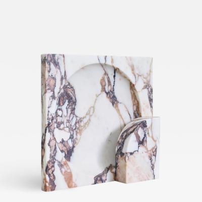 Henry Wilson Block Sconce in Calacatta Viola Marble by Henry Wilson